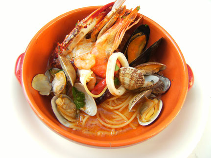 魚介たっぷりスープスパゲティ