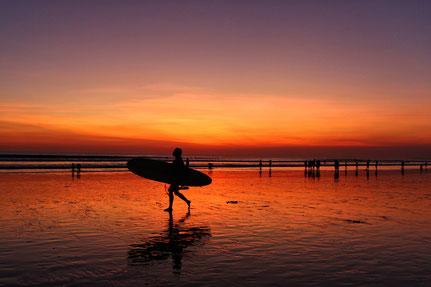 Pantai Kuta - Sonnenuntergang der besonderen Art