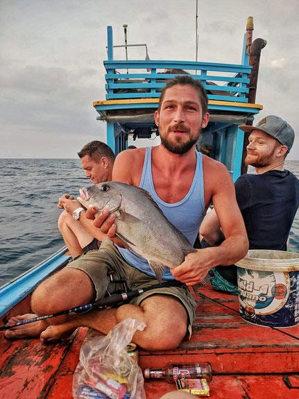 Den schwersten Fisch hat Benji gefangen.