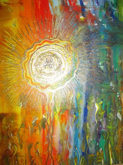 Seelenbild 40x50cm Acryl Lass dein Licht strahlen