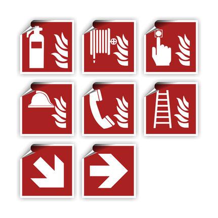 Brandschutzzeichen nach DIN EN ISO 7010