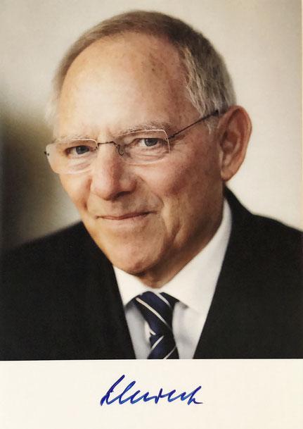 Autograph Wolfgang Schäuble Autogramm