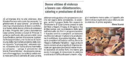 Dal Corriere del Mezzogiorno del 29/05/13