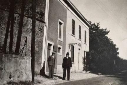 1950 - Café Braun Franz mit Kegelbahn - danach Schommer Paul und dann Paul's Tochter.