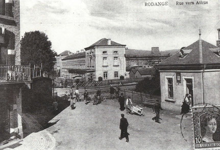 1912 - Bahnübergang nach Athem (Athus)