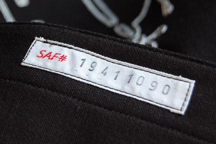 Close-up of San Antonio Fritz serial number