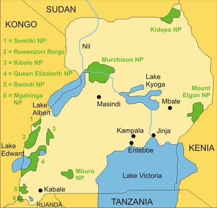 Die Länder Ostafrikas - Uganda