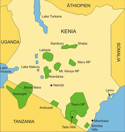 Die Länder Ostafrikas Kenia