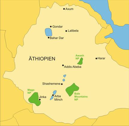 Äthiopien gehört zu Ostafrika