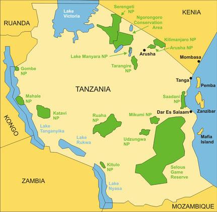 Die Länder Ostafrikas - Tanzania und Kenia, Uganda