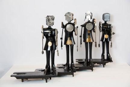 les couturières - ERIC NADO sculpteur-assembleur