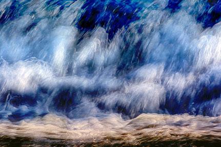 Mateo Brigande, La galerie de Mateo, détails, proxy, lunette, eau, courant, chute d'eau, tumulte,