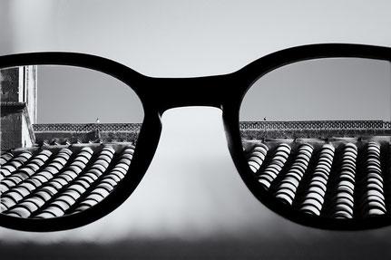 Mateo Brigande, La galerie de Mateo, détails, proxy, lunette, lumières, astigmatie, myope, flou, noir et blanc, vision