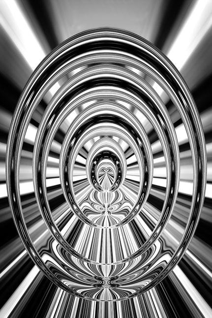 La galerie de Mateo, Art graphique, Art numérique, Mateo Brigande, matière, texture, abstraction, concept, conception, entité, idée, irréalité, tantrisme, abstraction, graphisme, perspective, transparence, oval, noir et blanc,