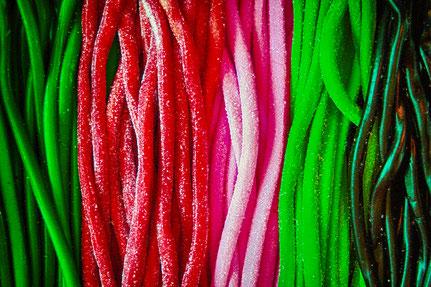 Mateo Brigande, La galerie de Mateo, détails, proxy, bonbon, spaghetti, couleurs, sucre, nouriture, food