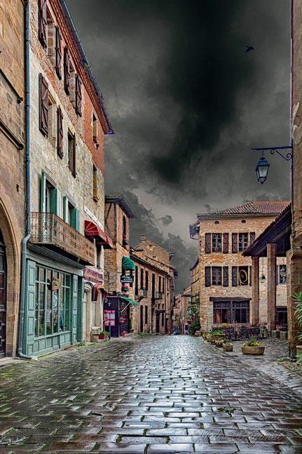 Mateo Brigande,La galerie de Mateo, Architecture, urbanisme, maison, bâtiment, immeuble, ruelle, pavé, Cordes sur ciel, Tarn