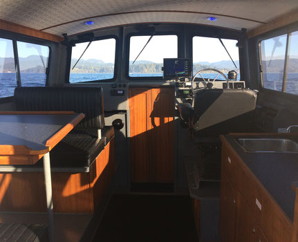 Warrior Fishing Charters, Tyee Warrior, Cabin