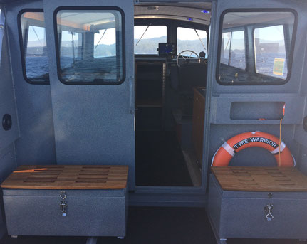 Warrior Fishing Charters, Tyee Warrior, Deck Seating