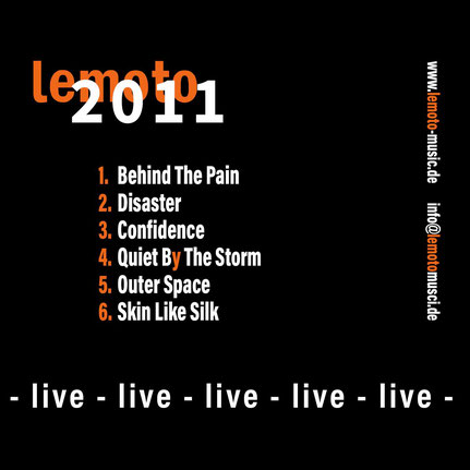 lemoto live Album 2011 cover back