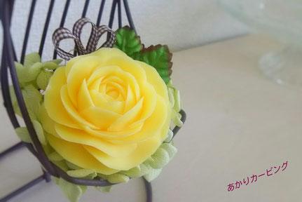 ソープカービング アレンジ バラ