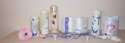 Hochwertige und exclusiv nach Ihren Wünschen  gefertigte Kerzen für jeden Anlass