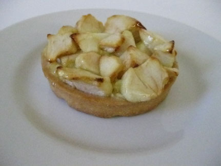 Apple tart flavoured with Armagnac
