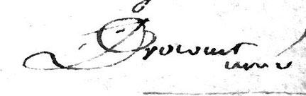 Signature deJean Joseph DROCOURT