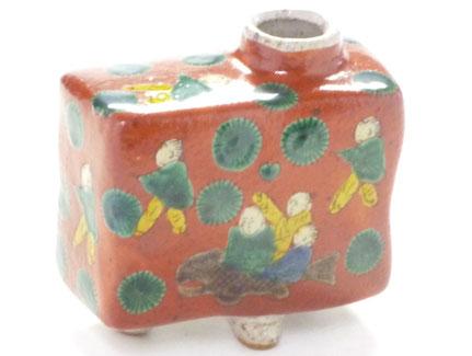九谷焼通販 おしゃれ 花瓶 一輪挿し 木米写し