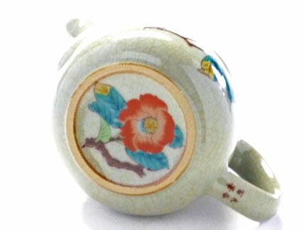 九谷焼通販 急須 茶器 おしゃれ おすすめ 椿に鳥 裏絵