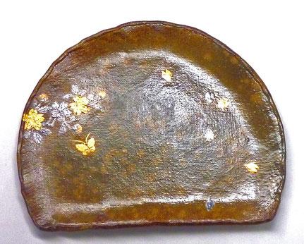 九谷焼 付出皿 金銀桜