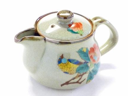 九谷焼 急須 茶器 おしゃれ おすすめ 椿に鳥 裏絵