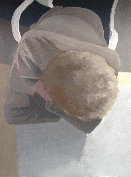 Fenster Tag, 2020, Gouache auf Papier, 30,5x 23 cm