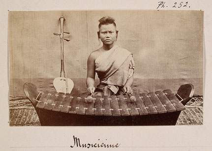 Oldest photograph of roneat thung. Émile Gsell, c. 1866-70