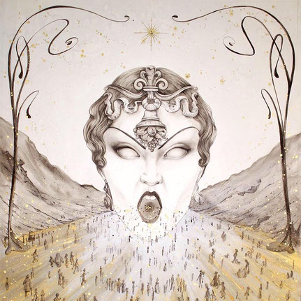Illustration du texte de Patrice Verry, La vallée dorée.