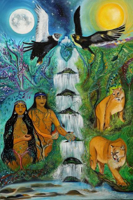 Ngenko, rehue, pangi, cosmovision mapuche