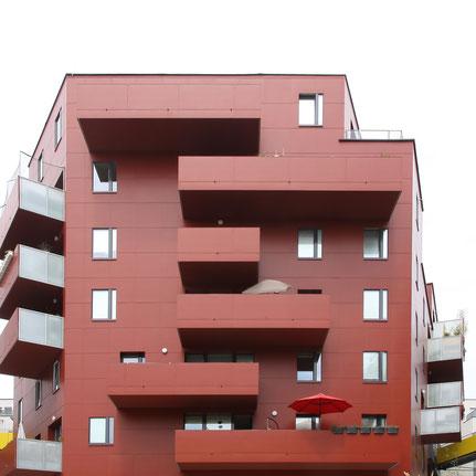 Sonnenwendviertel Wien Vienna architect Klaus Kada Wohnzimmer Housing Complex