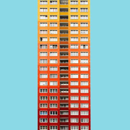 Residential high-rise Wohnhochhaus WHH GT 18 Friedrichsfelde Helmut Stingl DDR GDR Hochhaus Plattenbau