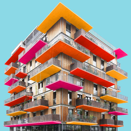 Wohnprojekt Wien einszueins architecture  1:1 Architekten Nordbahnhof Vienna Krakauer Straße