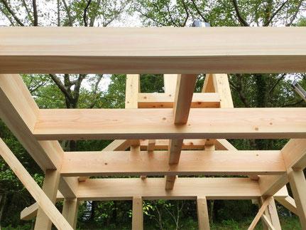 桁・梁材の組立