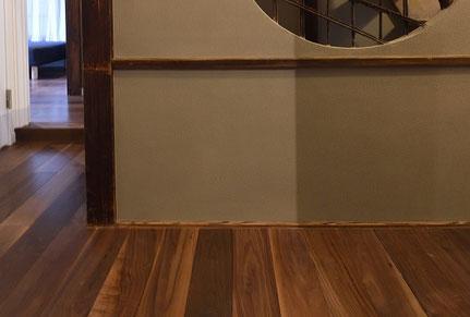 ウォールナット 単板貼 フローリング 床暖房対応 andwood アンドウッド 無垢