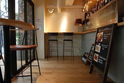 オーク 単板貼 フローリング 床暖房対応 andwood アンドウッド 施工事例 飲食店