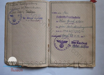 Livret de déporté de camps de travail de Paul GAETAN