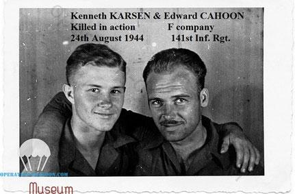 Kenneth KARSEN & Edward CAHOON. mai 1944. Italy