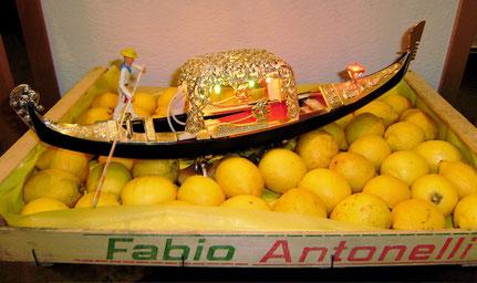 Zitronen, Gondel, Venedig, Obstkiste, Fabio Antonelli, Kitsch, Leuchte, Dekoration