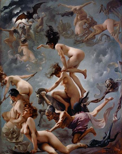 Luis Ricardo Falero, Walpurgisnacht. Der Aufbruch der Hexen. 1878