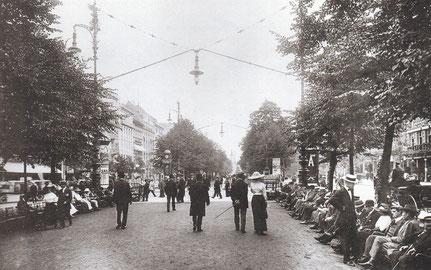 Max Missmann, Promenade Unter den Linden. 1912