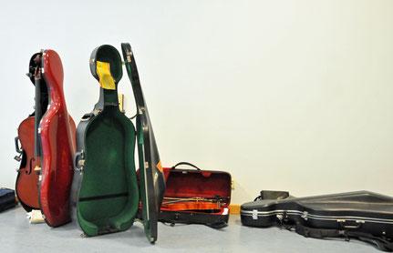 Violoncello, Instrumentenkasten, Cellokasten