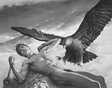 Maurice Heerdink *1955 Prometheus. 2002. Acryl 80 x 100 cm