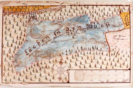 Lehen im Wuest  nach einer Karte von 1758
