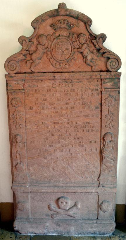 Grabstein von Georg Melchior Langsdorff (1713-1767)